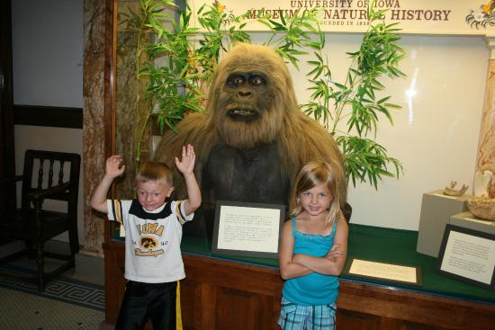 Museum of Natural History: Nice displays, here is a picture of two grandchildren, with the Sloth, there are a lot of animal