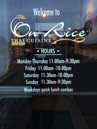 On Rice Thai Cuisine