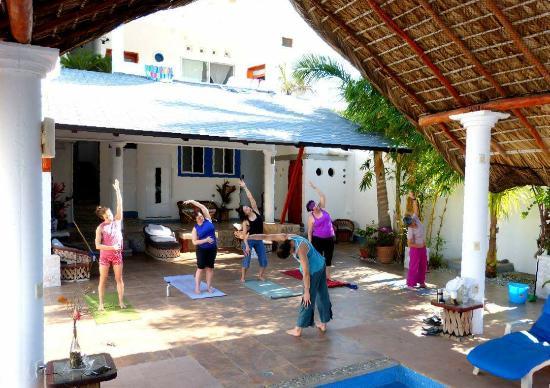 Villa Lili: a Yoga class