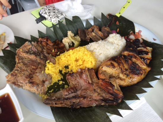 Onehunga, Yeni Zelanda: Island Fiesta Platter