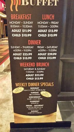 The Buffet At Golden Nugget Lake Charles Prices At Golden Nugget Buffet Posted