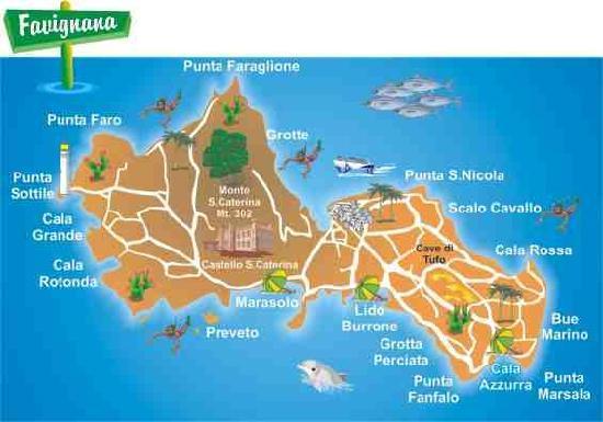 Mappa Favignana Picture of Alson Tour Marsala TripAdvisor