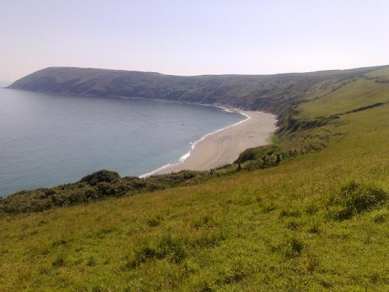 Vault beach from the coast path.