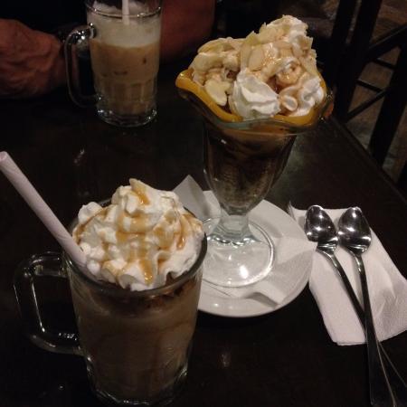 Cafe Breton: Peach Melba(center) and Caramel Leigeois(front)