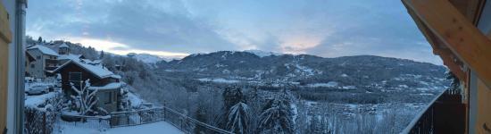Chalet Hotel La Terrasse de Verchaix: View from our bedroom balcony (Room 3)