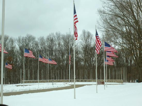 Augusta, MI: The Avenue of Flags.
