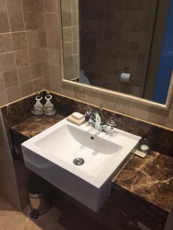 Bathroom Sinkbasin Not Double Picture Of Beverly Hills - Rocks in bathroom sink