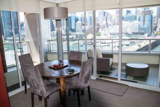 One Darling Harbour: Dining area with view
