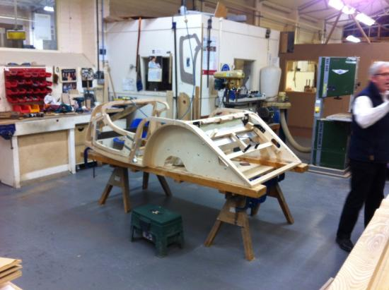 Ash frame under construction - Picture of Morgan Motor Company ...