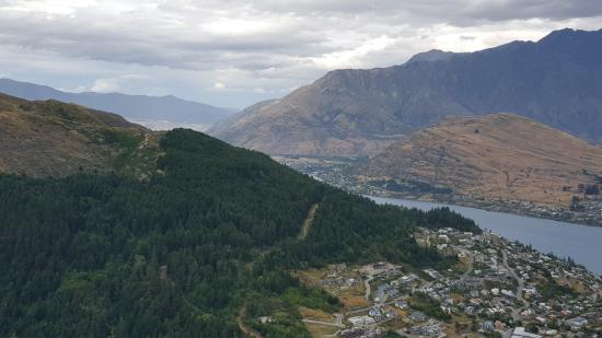 Looking onto Queenstown from the top