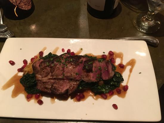 St. Michael's Alley: lamb with pomegranate syrup