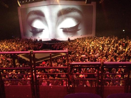 Adele Standing on the floor Seating at Balcony level Picture of