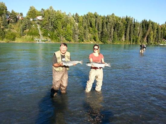 Sterling, AK: Silver and sockeye salmon fishing is terrific