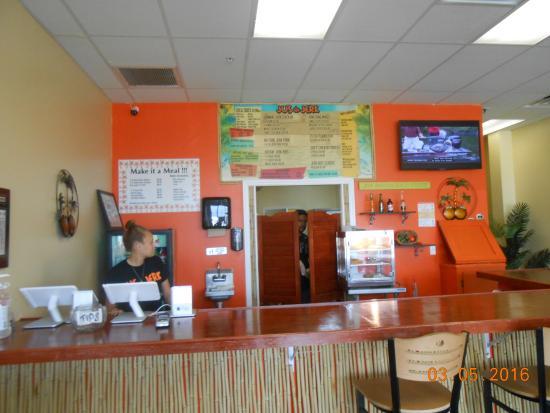 Lehigh Acres, Флорида: cashier menu board
