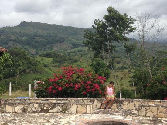 Clarion Copan Ruinas: View from outdoor seating