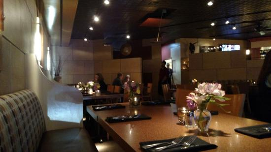 Glenwood Grill: A view of the dining room and bar area from one of the tables at the front of the restaurant.