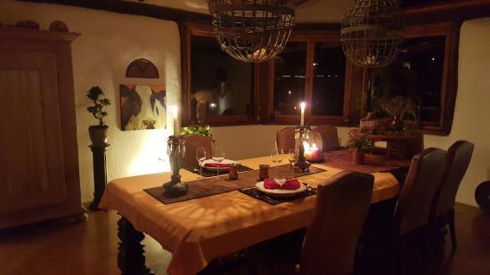 Manawa Ridge: Table set for a wonderful romantic dinner for 2