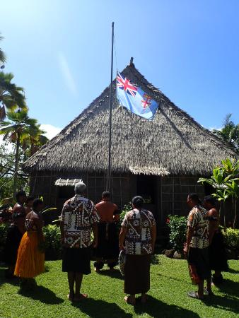 Raising of the Fiji Flag  Picture of Polynesian Cultural Center