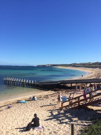 Acacia Chalets Margaret River: View from beach cafe just down the road from Beach Studios