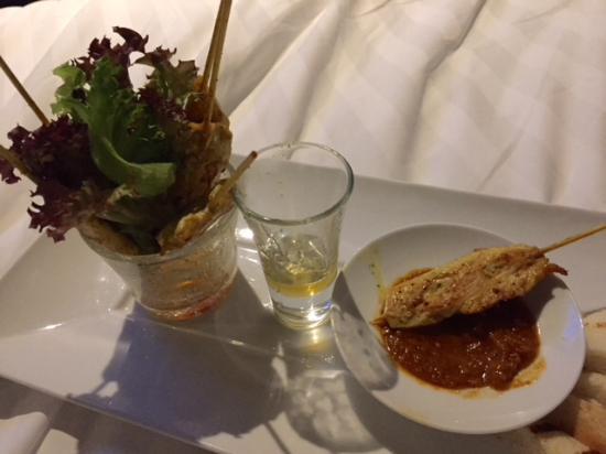 Room service chicken satay