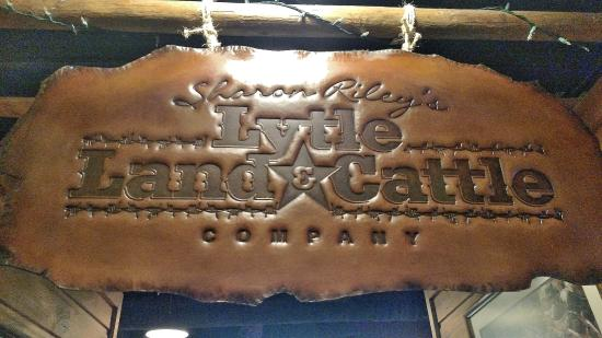 Lytle (TX) United States  City new picture : Lytle Land and Cattle Company: A big hand tooled leather shingle sign ...
