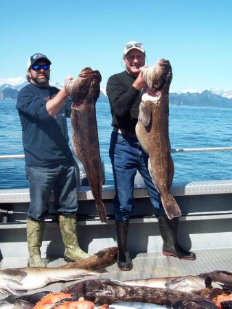 Kenai Riverbend Resort: 2 nice Ling Cod