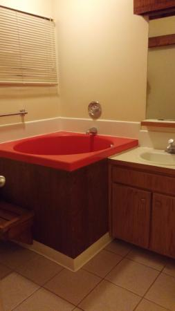 Shawnee River Village 2: Bathroom with the weird tub