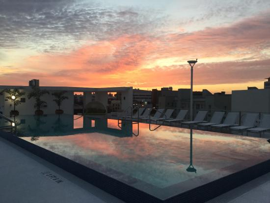 South Beach Sunrise From The Pool Deck