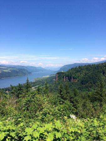 Hood River, Орегон: View from hwy 30 hwy 30 scenic viewpoint