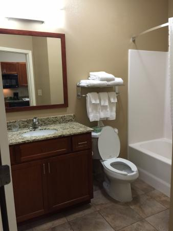 Bathroom picture of candlewood suites radcliff fort for Bathroom suites direct