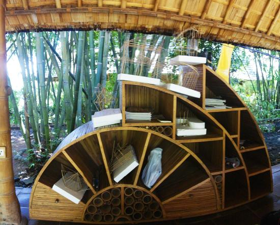 Green Village Bali Tours Bookshelf Made From Bamboo