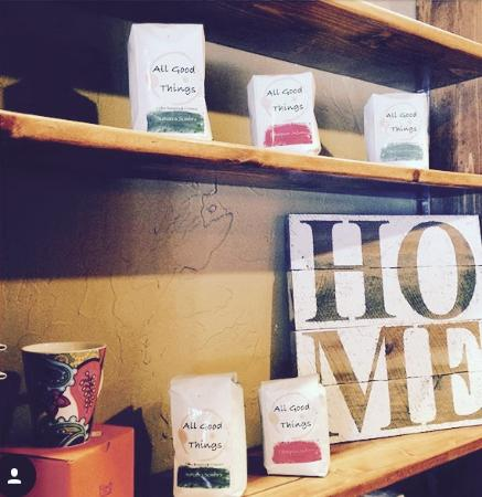 River Pointe Coffee House: Grab a bag of coffee to go and browse new merchandise from Vintage Moose