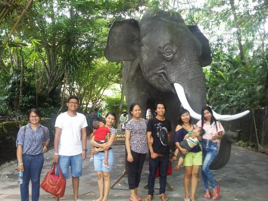 in front of giant elephant statue picture of bali safari marine rh tripadvisor in