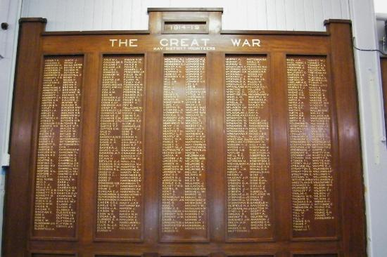 Hay War Memorial High School Museum: The World War I Honour Board
