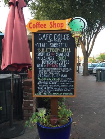 Cafe Dolce : Most delicious gelato ever tasted, best cup of bullet coffee, and great service, too!