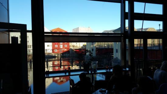 Scandic Bakklandet: View from the breakfastroom/restaurant.