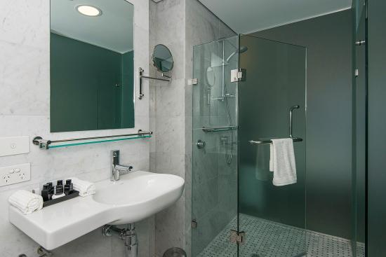 The Nest on Newcastle: Fun frosted bathrooms