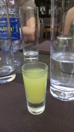 complimentary homemade limoncello liqueur after lunch (it's strong!)