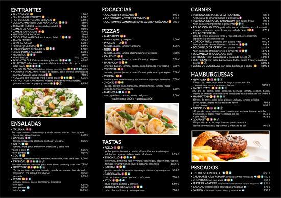 Luna Nueva Restaurant Menu