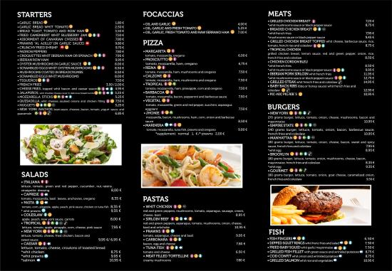 De Luna S Cafe Menu