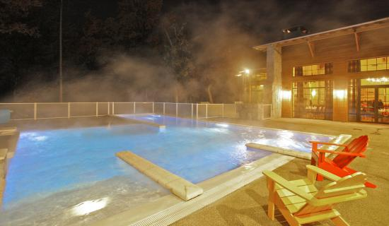 Albirondack Camping Lodge & Spa : Albirondack Camping Tarn : Piscine Chaufée