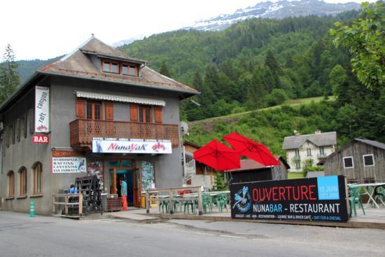 Terrasse du Nunabar à Sixt Fer à Cheval - Bild von Nunabar ...