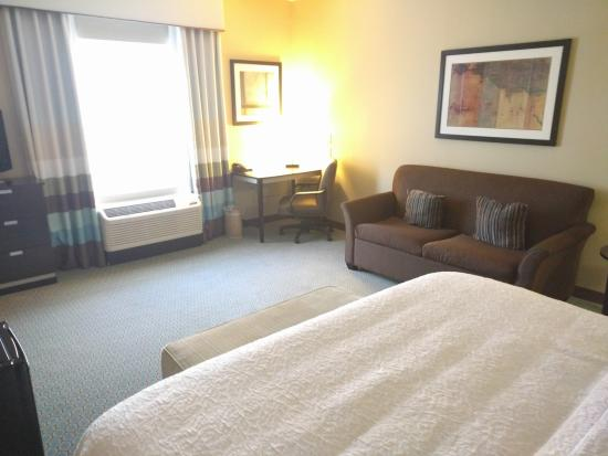 Denison, TX : Room, King size bed and sleeper sofa