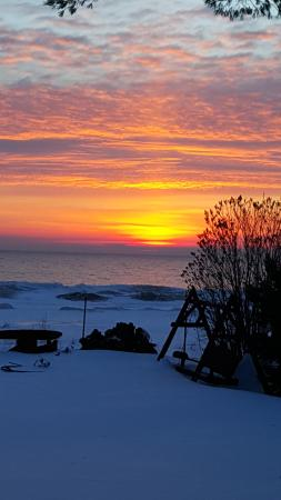 Ossineke, MI: Sunrise from my bedroom one morning.