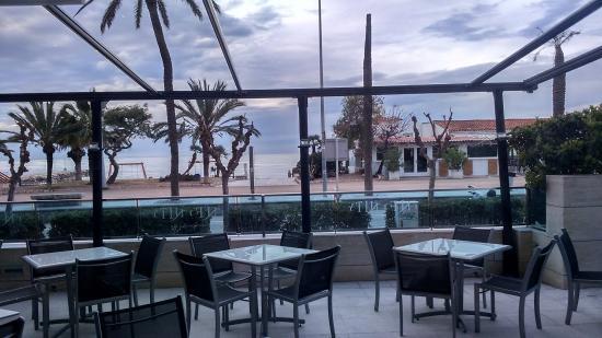 Hotel Calipolis: Vista desde el desayuno