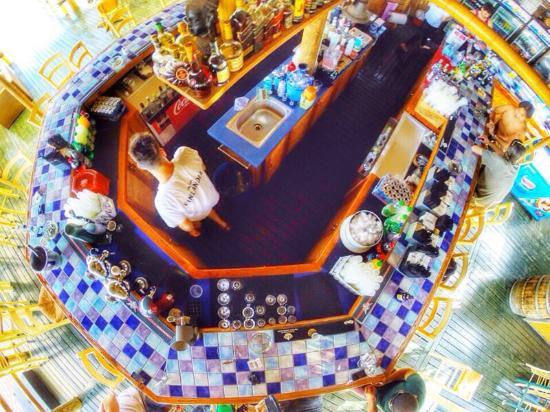 Bora Bora Beach Bar: the bar on the upper level