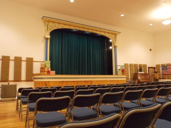 Cuba, NY: The Palmer Opera House stage