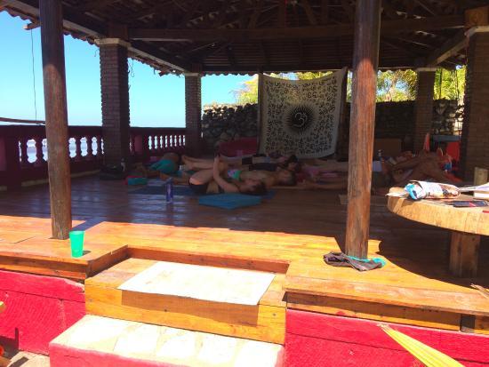 El Transito, Никарагуа: Yoga deck