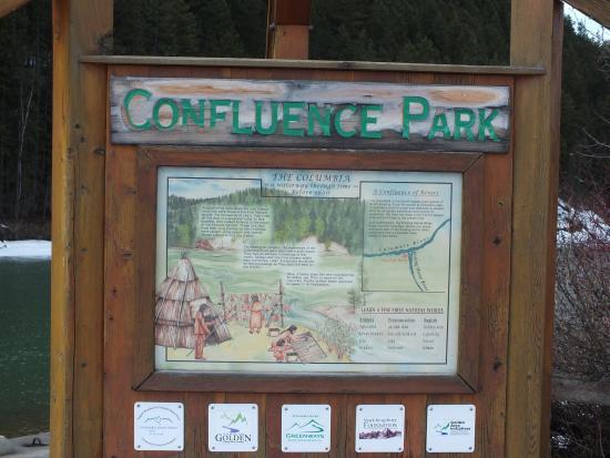 Golden, Canadá: Confluence Park sign