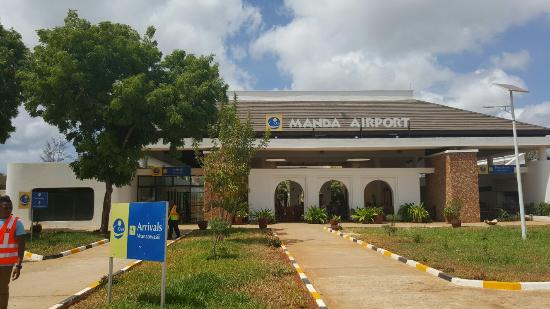 Manda Bay: Manda Airport's new terminal building.